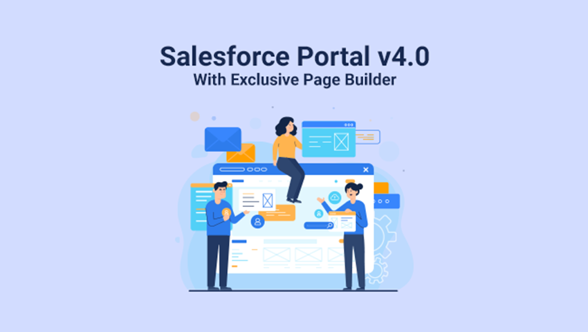 Update: Our Salesforce WordPress Portal has a Page Builder Feature Now!