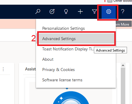 Create Application-Advanced Settings