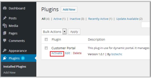 Navigate to Installed Plugin