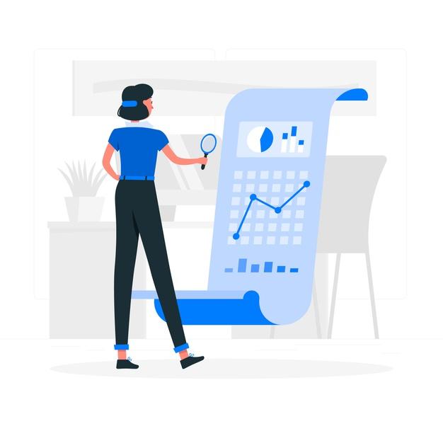 Analysis concept illustration Free Vector