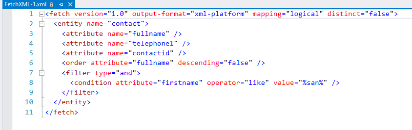 download the fetch XML query