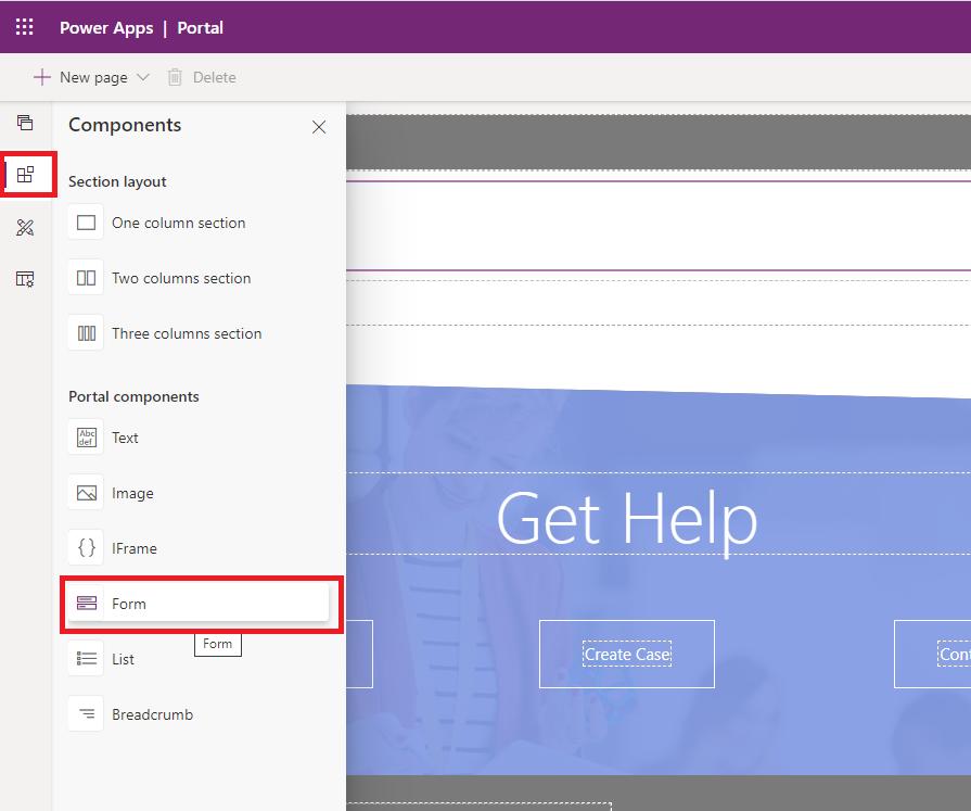 add form on web