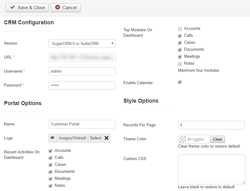 Joomla Configurations